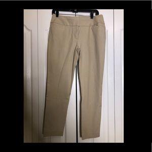 Ann Taylor Loft khaki Julie Skinny pant size 6